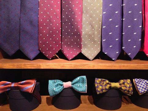 DanaBassotta bow ties in ''Dotten.'' store in Barcelona, Spain