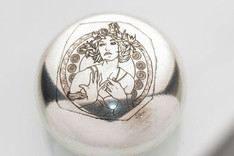 Engraved sterling silver Christian Dior trinket box
