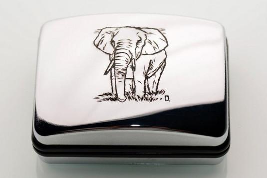 Jewellery box with elephant