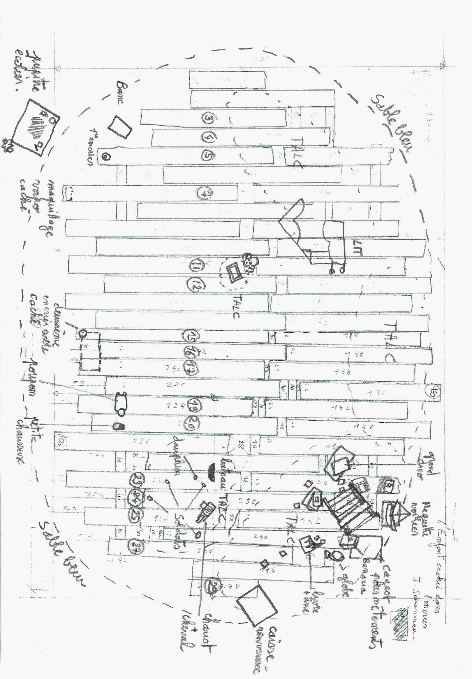 plan du plancher avec mise accessoires