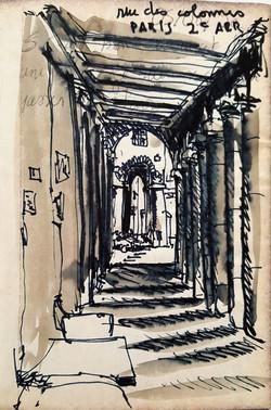 Paris rue des colonnes