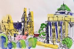 Tours_bibliothèque_et_cathédrale