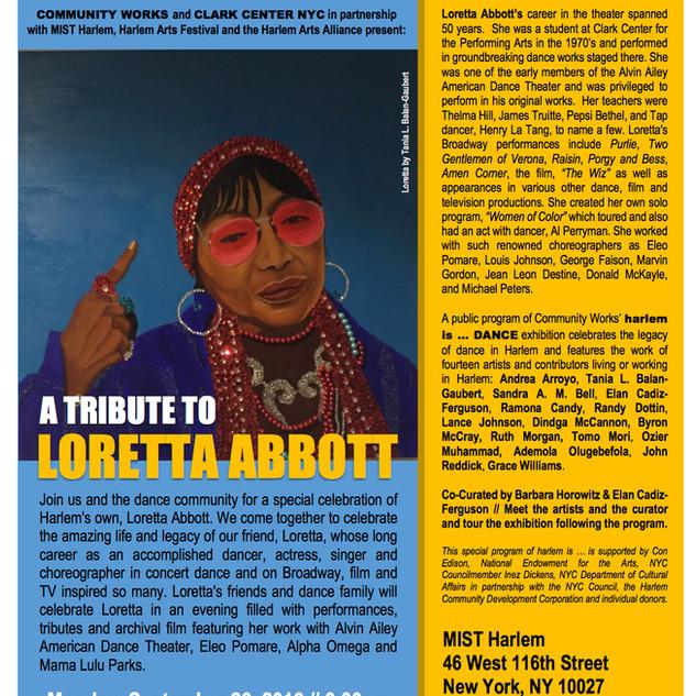 Tribute to Loretta Abbott