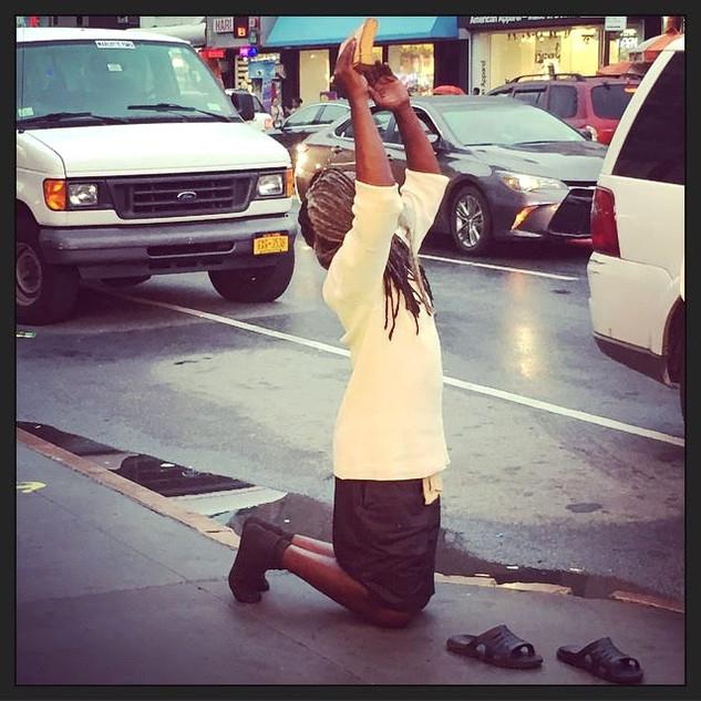 Black Jewish Man Praying