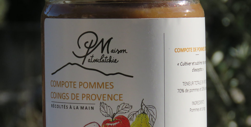Compote pomme-coing