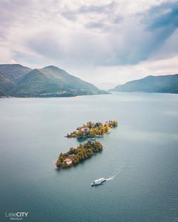 Islands at lago Maggiore