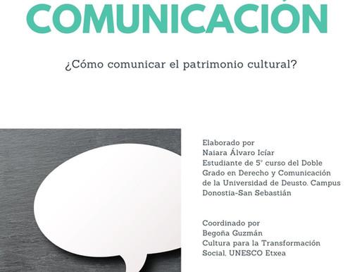 Nola komunikatu ondarea? ¿Cómo comunicar el patrimonio?