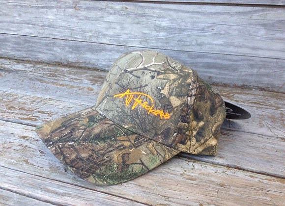 Camo Cap with Hunter Orange Stitching