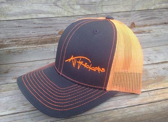Charcoal/Orange Mesh Cap
