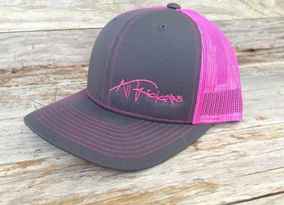 Charcoal/Pink Mesh Cap