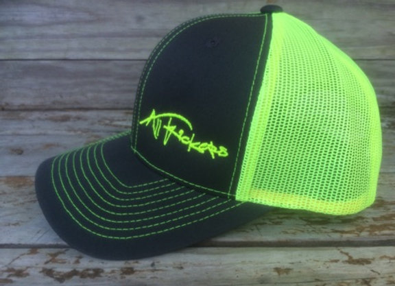 Charcoal/Yellow Mesh Cap