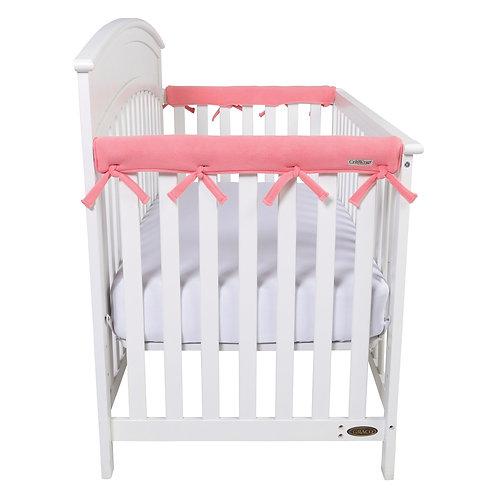 Crib Wrap Rail Cover (Short, Coral, 2-Piece Set)