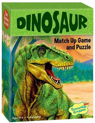 Peaceable Kingdom Dinosaur 24 Card Match Up Memory Game and Floor Puzzle
