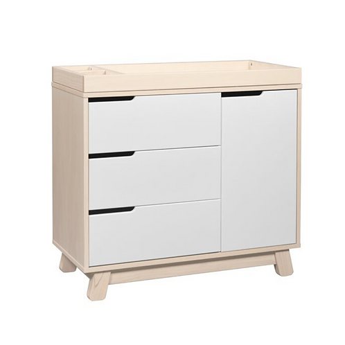 Hudson 3-Drawer Dresser with Removable Changing Tray (Washed/White)