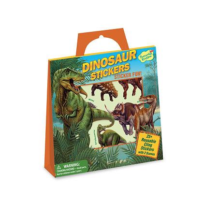 Reusable Sticker Tote: Dinosaur
