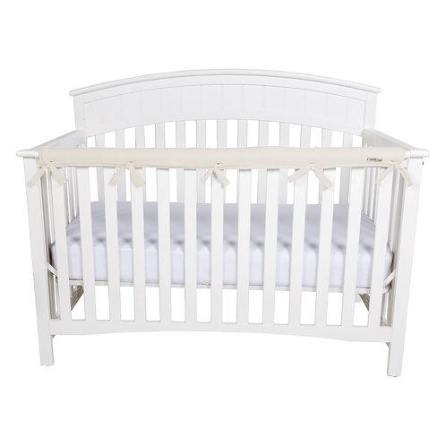 Crib Wrap Rail Cover (Long, Natural) | Hatchery Cribs