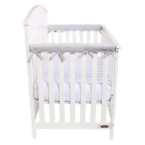 Crib Wrap Rail Cover (Short, Grey, 2-Piece Set)
