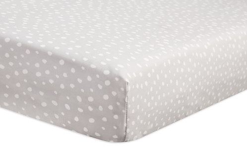 Tuxedo Grey Dots Fitted Crib Sheet
