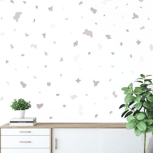 Terrazzo Fabric Decal (Blush Grey)