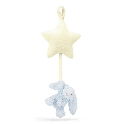Bashful Blue Bunny Star Musical Pull