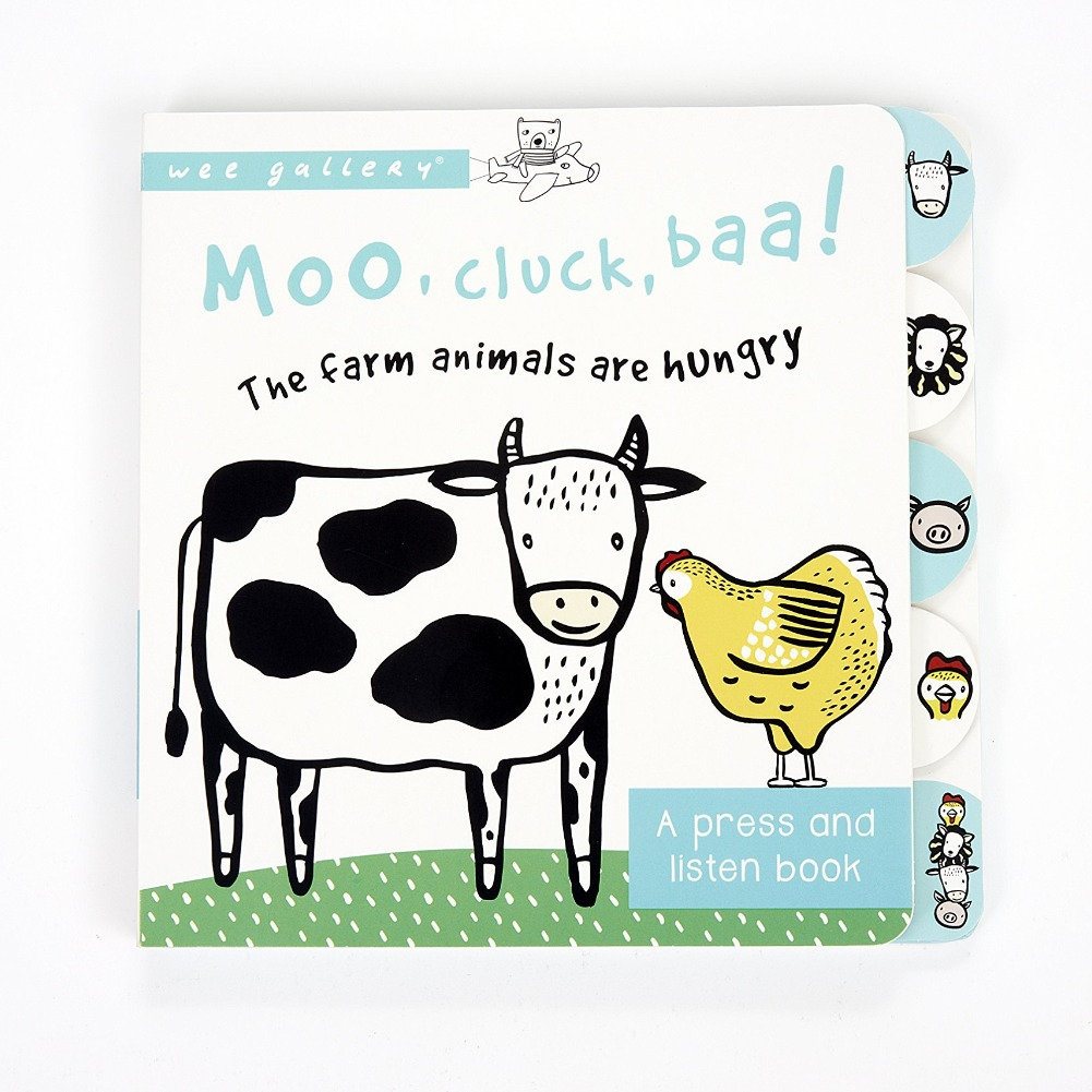 Moo, Cluck, Baa! The Farm Animals are Hungry: A Press and Listen Book