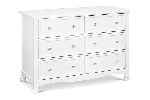Kalani 6 Drawer Double Wide Dresser (White)