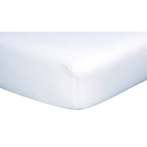White Cotton Flannel Fitted Crib Sheet
