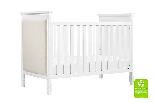 Lila 3-in-1 Upholsted Convertible Crib (White)