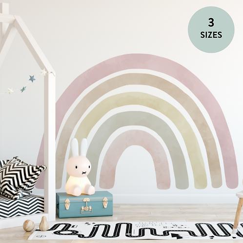 Jumbo Rainbow Fabric Wall Decal (Blush - 3 Sizes)