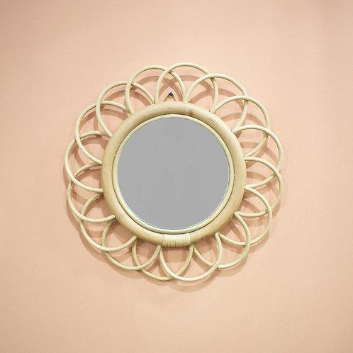 Fleur Rattan Mirror (Small)