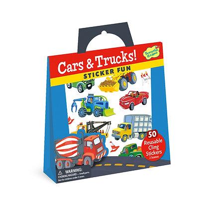 Reusable Sticker Tote: Cars & Trucks