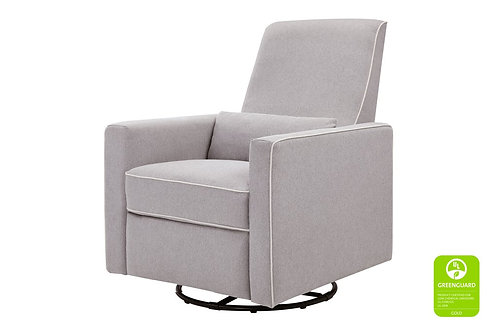 [Showroom Piece] Piper Recliner and Swivel Glider (Grey with Cream Piping)
