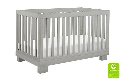 (In Stock) Modo 3-in-1 Convertible Crib (Grey)