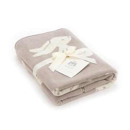 Beige Bashful Bunny Blanket