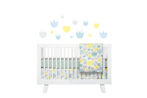 Tulip Garden 5-Piece Nursery Crib Bedding Set