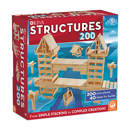 Keva: Structures 200 Plank Set: From Simple Stacking to Complex Creations