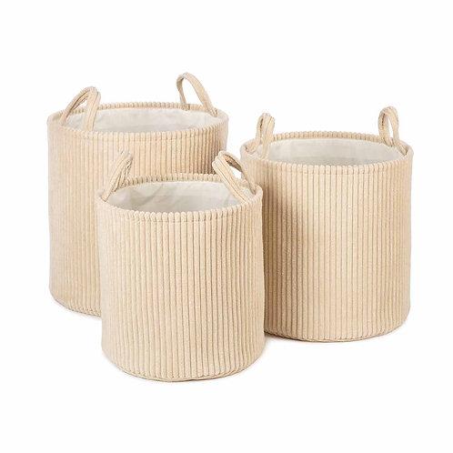 Ebby Basket - Set of 3 (Cream)