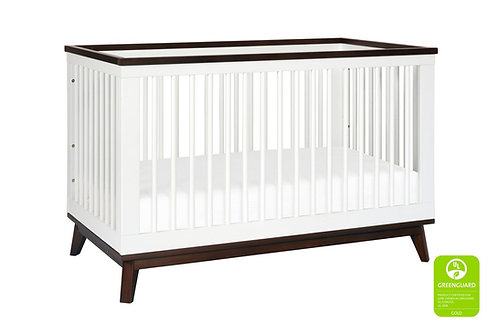 (In Stock) Scoot 3-in-1 Convertible Crib with Toddler Bed Conversion Kit(Walnut)