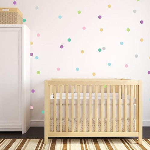 "3"" Pastel Confetti Dots Wall Decal"