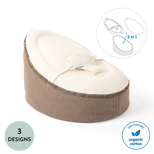 Seat: Adaptable Organic Cotton Bean Bag (From birth up to 30kg)