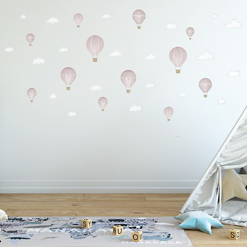 Up Up and Away Fabric Decal (Blush)