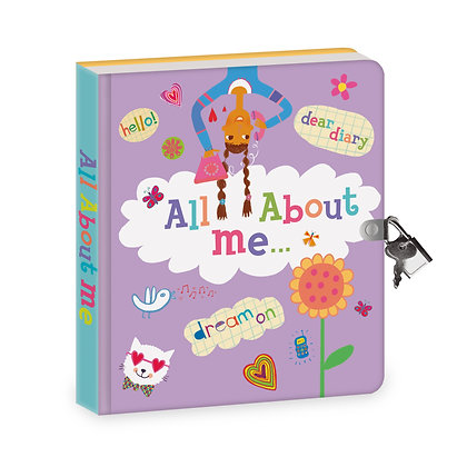 All About Me Diary: Lock & Key Diary