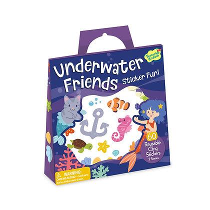 Reusable Sticker Tote: Underwater Friends