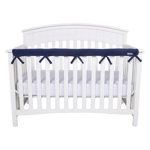 Crib Wrap Rail Cover (Long, Navy)