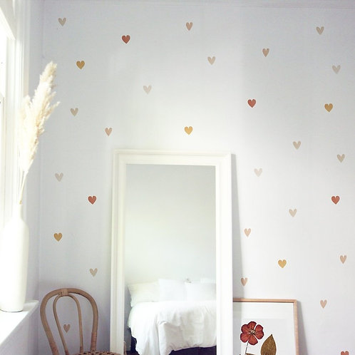 (In Stock) Mini Watercolor Hearts Wall Decal