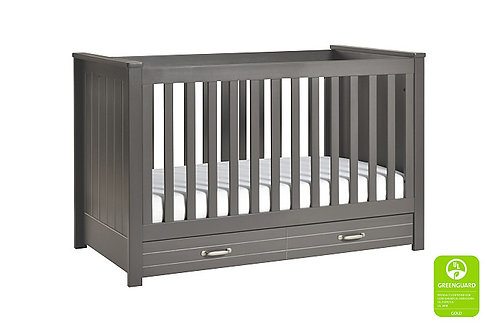 (In Stock) Asher 3-in-1 Convertible Crib (Slate)
