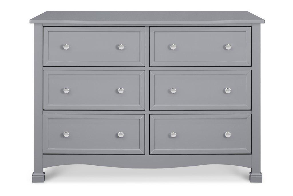 Kalani 6 Drawer Double Wide Dresser Grey Hatchery Cribs