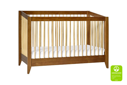 (In Stock) Sprout 3-in-1 Convertible Crib (Chestnut/Natural)