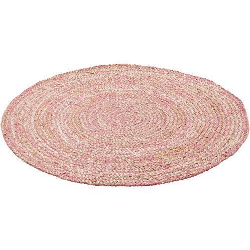 Jute Round Rug (Pink) Ø110cm
