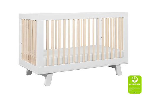 (In Stock) Hudson 3-in-1 Convertible Crib (White/Washed)